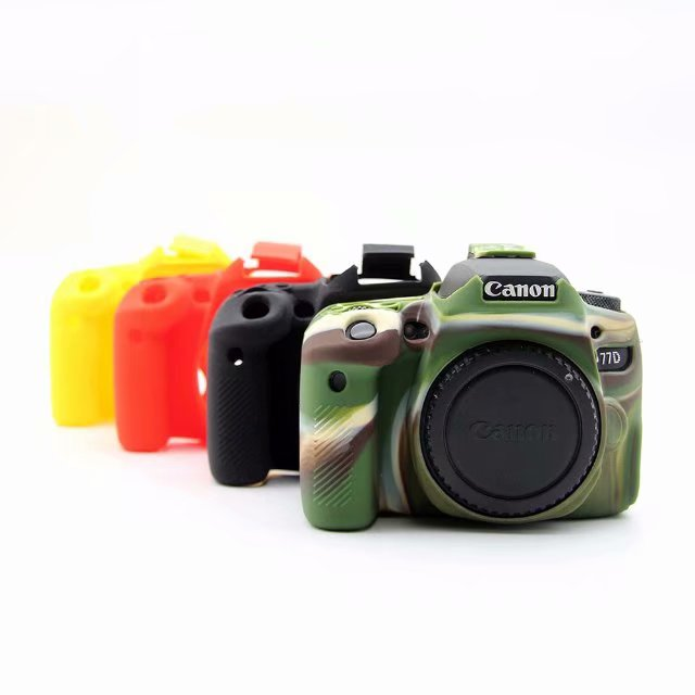 Skin Case Camera-Bag Protective Body-Cover Mark-Iii Silicone-Rubber 200D Canon 77D Nice