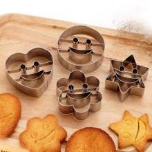 Heart Cookies Cutter Molds Stainless Steel Cake Mould Biscuit Plunger Forms For Decorating DIY Baking Tools
