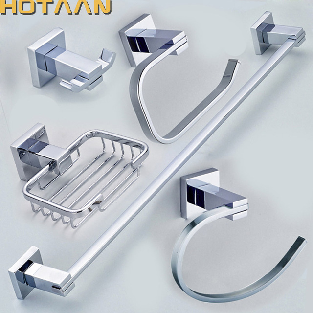 Free Shipping 304 Stainless Steel Bathroom Accessories Set Robe Hook Paper Holder