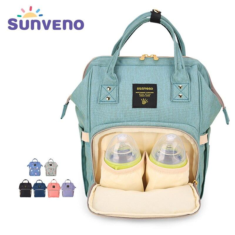Sunveno Fashion Diaper Bag Multi-function Maternity Nappy Bag Brand Baby Bag M/S SizeTravel Backpack Nursing Bag Baby Care