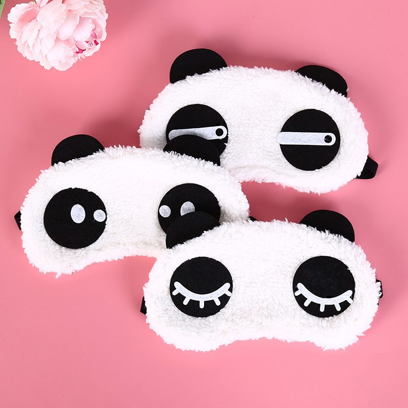 1pcs Cartoon Panda Black Mask Bandage On Eyes For Sleeping Relaxing Ice Or Hot Compress Eyeshade Sleeping Mask