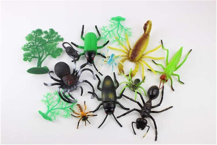 Children's Toys Gift Chameleon Centipede Spider Beetle Insect Locust Scorpion Toy Animal Collection Nature Models 4-9cm locust модные джинсы locust 5959dark blue