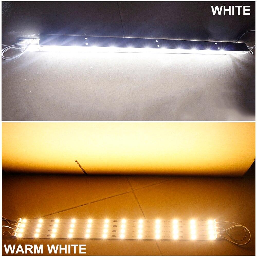 Купить с кэшбэком 10pcs LED Bar Light AC 220V Led Strip Light Aluminum Plate T5 T8 Tube SMD 5730 PCB Lamp Light Source High Quality 180-260 V JQ0