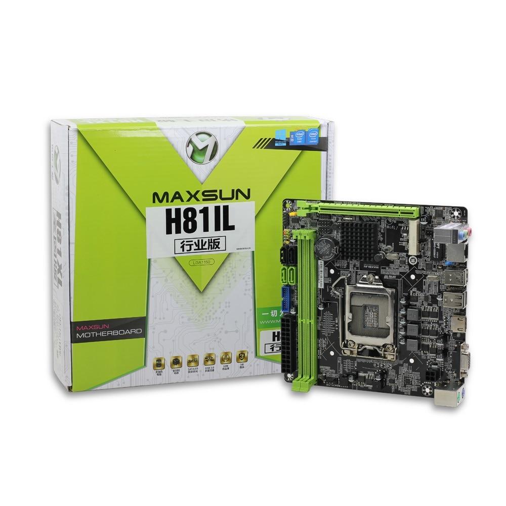 Carte mère de bureau ITX Intel H81 LGA 1150 Socket USB2.0 SATA3.0 PCI-E double mémoire DDR3 i3 i5 i7 processeur carte mère d'origine