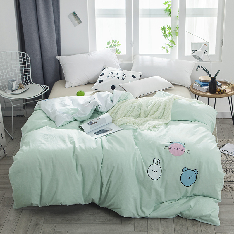 Animal world cute series cute rabbit duvet cover cotton quilt cover bedding blanket cover sw