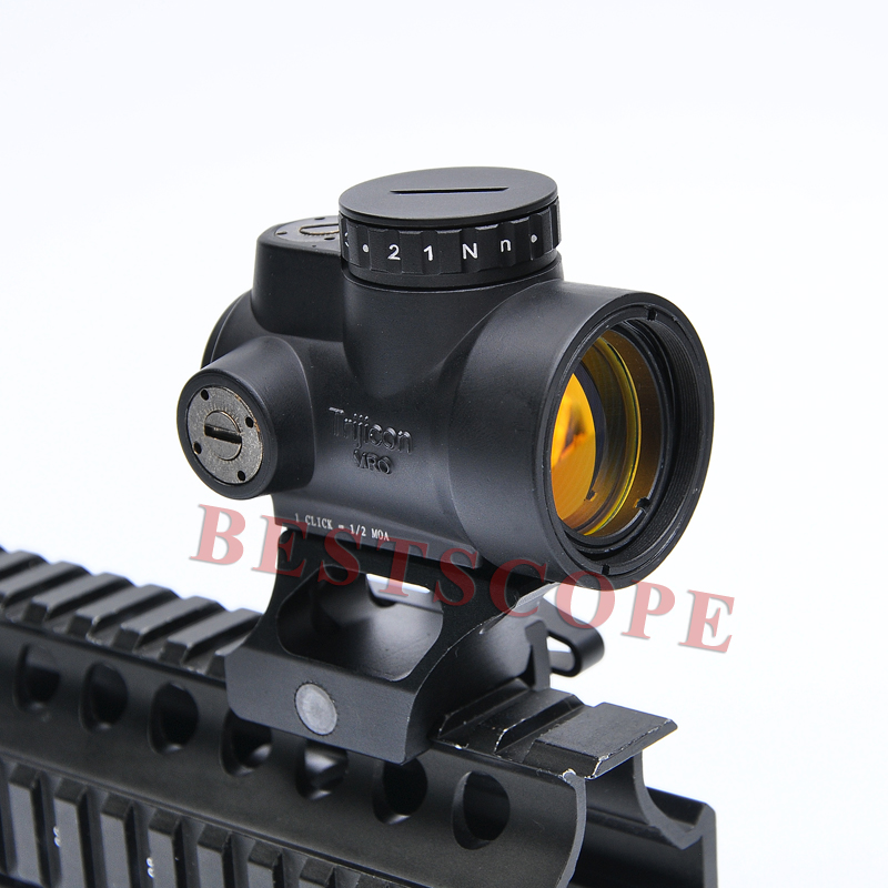 Trijicon MRO Airsoft Holographic Red Dot Sight Shotgun Scope Hunting Riflescope Illuminated Sniper Gear For Tactical Rifle Scope hunting led rm red dot sight adjustable airsoft shotguns holographic scope with trijicon style mini mirror