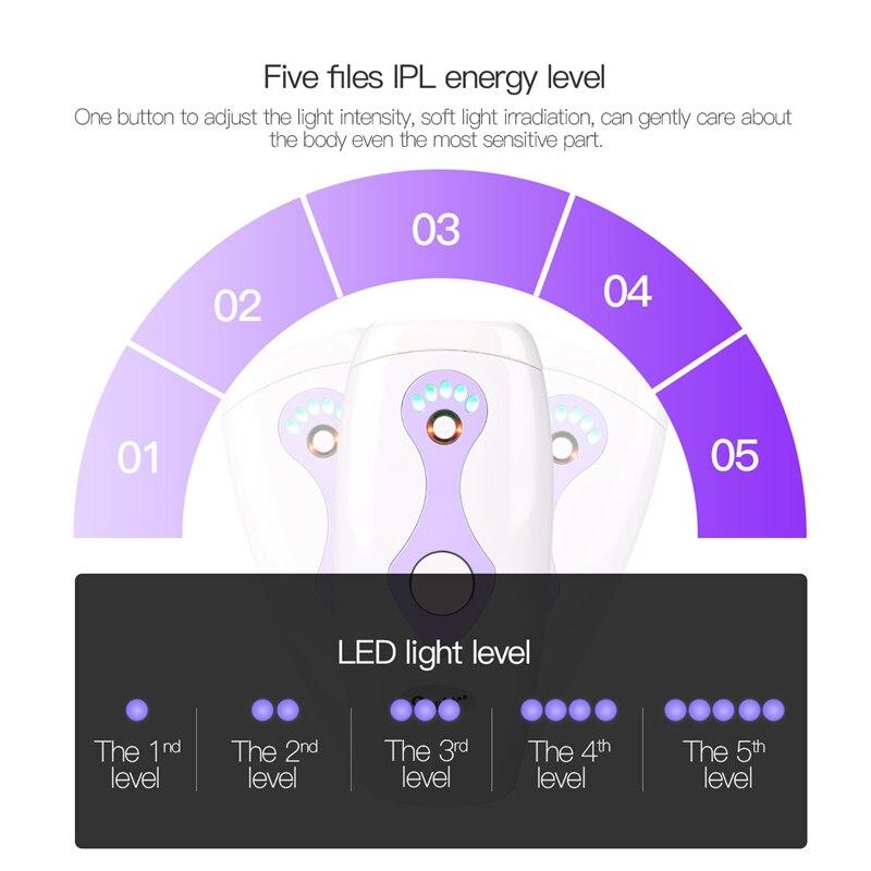 5 Modes Intense 500000 Pulsed Light IPL Electric Female Laser Epilator Body Hair Removal Photo Women