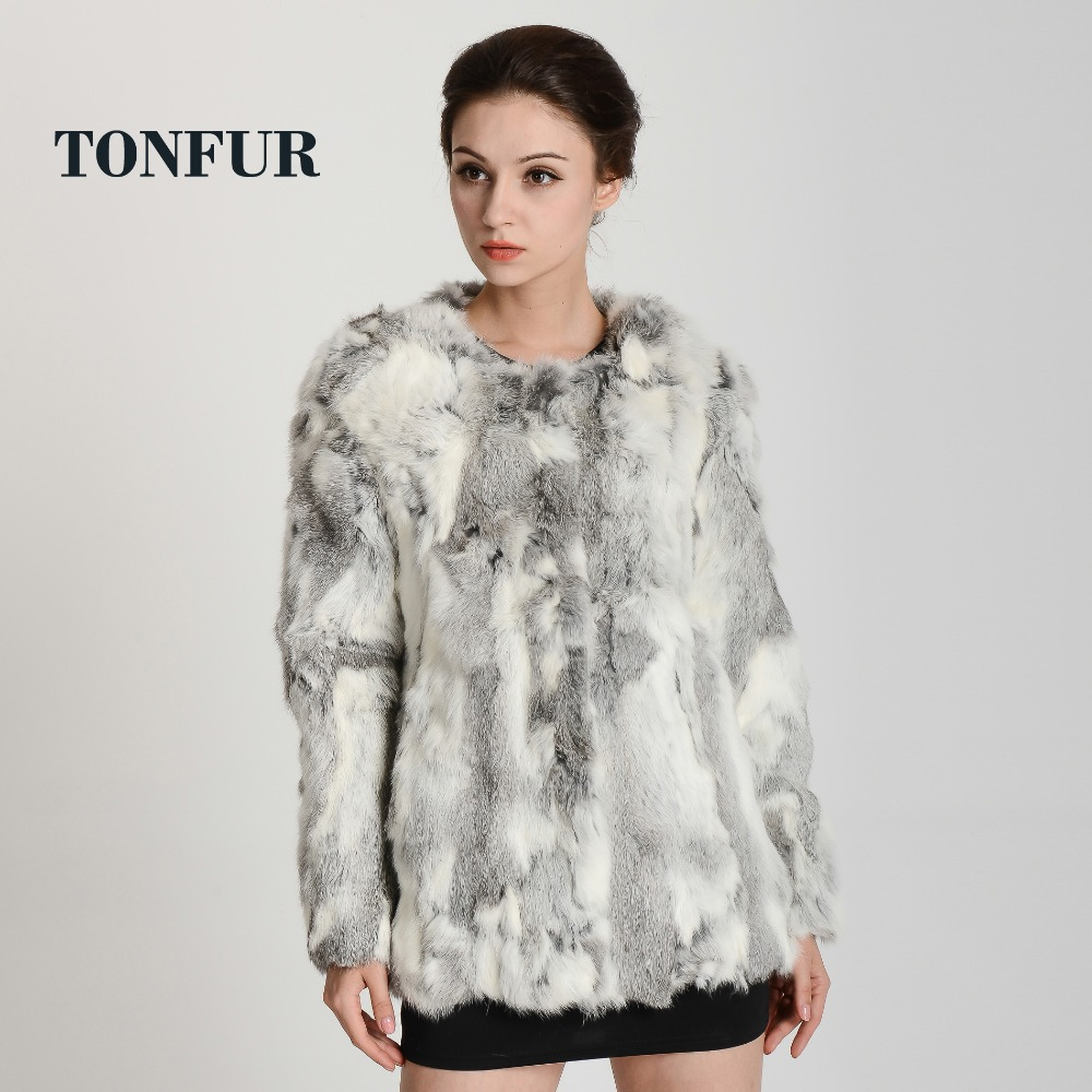 2015 New Women Warm Winter Real Natural Rabbit Fur Coat Free Shipping plus size waistcoat TP125B