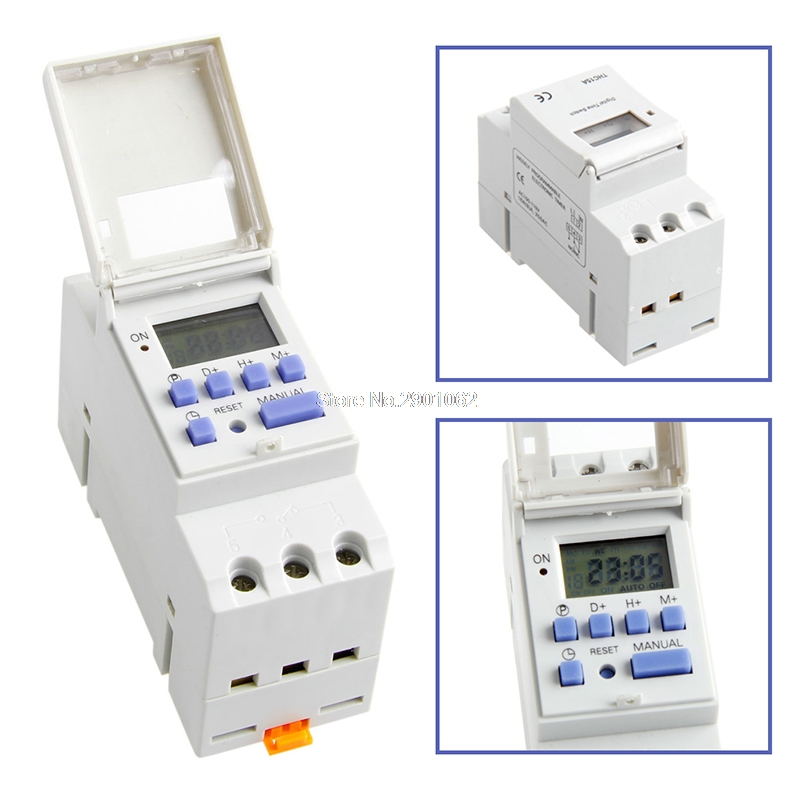 Digital LCD Programmable Timer 12V DC DIN Rail Time Relay Switch Power New -B119 0 01 999 second 8 terminals digital timer programmable time relay