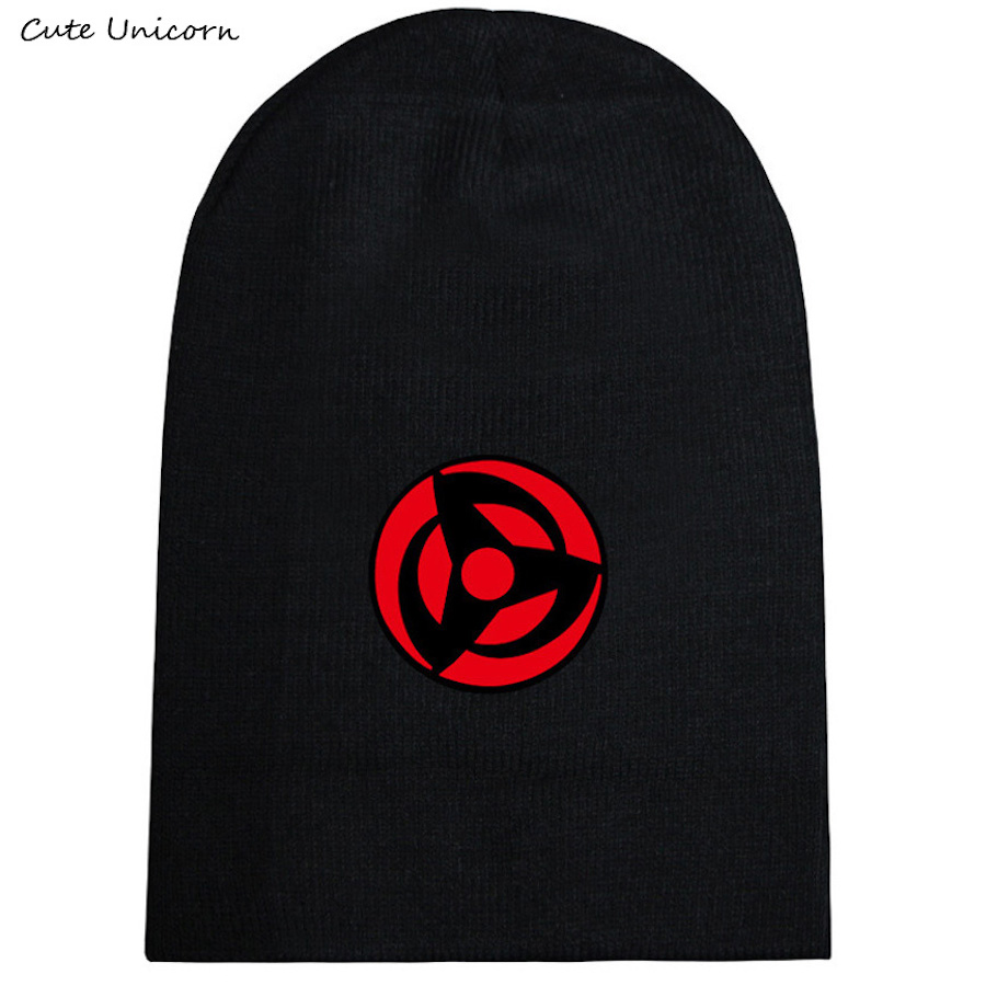 Naruto Sharingan autumn winter hat beanies unisex knitted cap casual hats women hip hop Skullies anime beanie female gorro