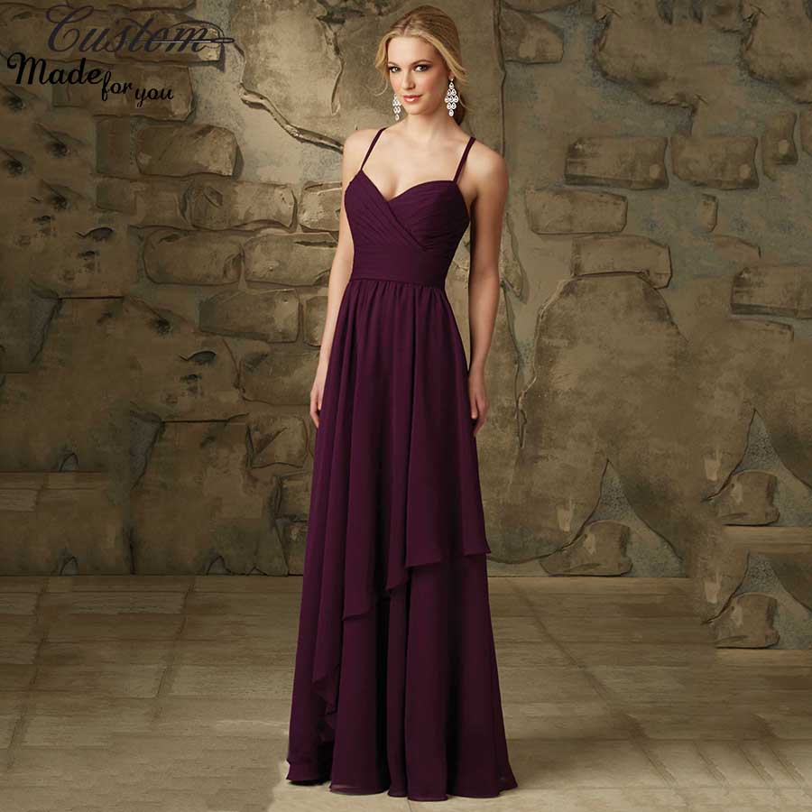 Aliexpress buy robe demoiselle dhonneur plum vestidos aliexpress buy robe demoiselle dhonneur plum vestidos chiffon spaghetti straps dark purple long bridesmaid dresses 2016 criss cross back from ombrellifo Image collections