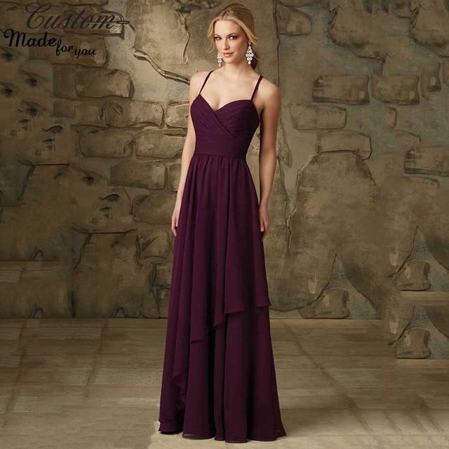 Aliexpress.com : Buy Robe Demoiselle D'honneur Plum