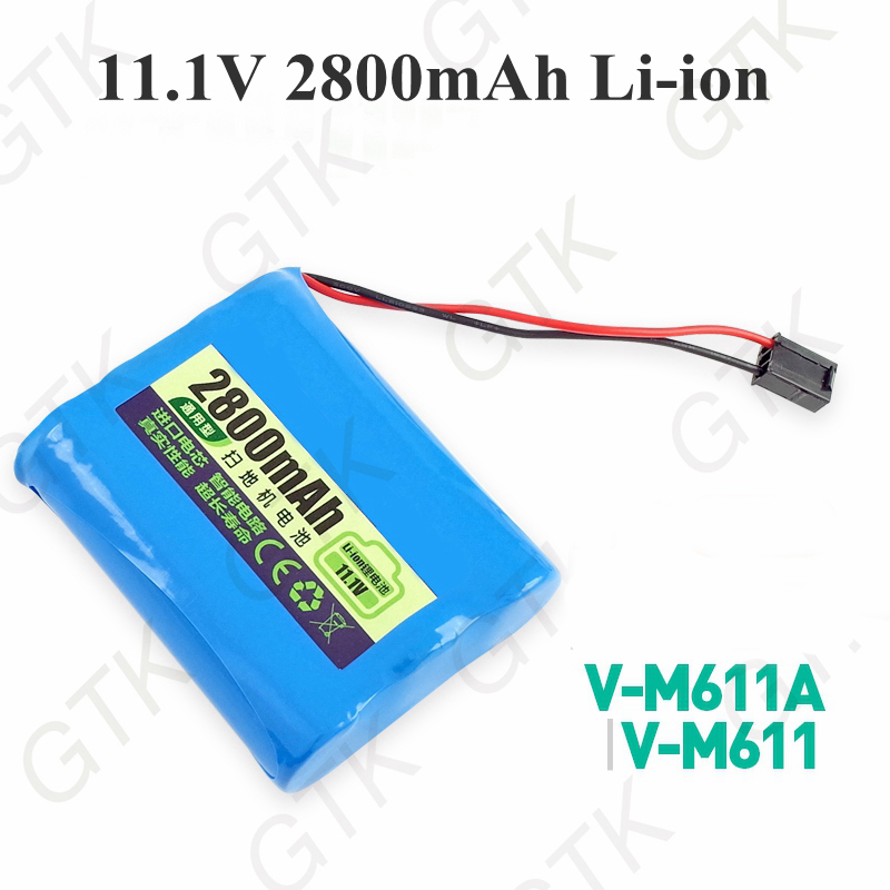 Lithium Battery Pack >> Us 30 0 Lithium Battery 11 1v 2800mah Li Ion Rechargeble Battery Pack For V M611a V M611 M611 Robot Vacuum Cleaner Mopping Robot In Battery Packs