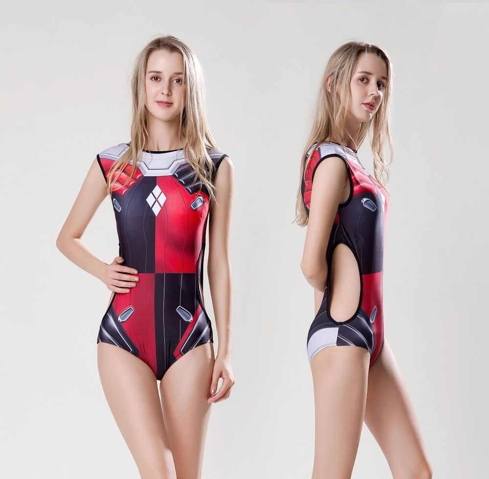 Nowy ponad charakter gry Harley Quinn D. VA Cosplay kostiumy DVA stroje kąpielowe strój kąpielowy kostiumy Cosplay