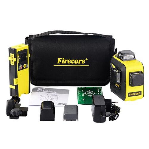 FIRECORE 12 линий 3D F93T-XR F93T-XG красный/зеленый лазерный нивелир+ приемник/l-образный кронштейн/3 м штатив-Трипод - Цвет: Option 4