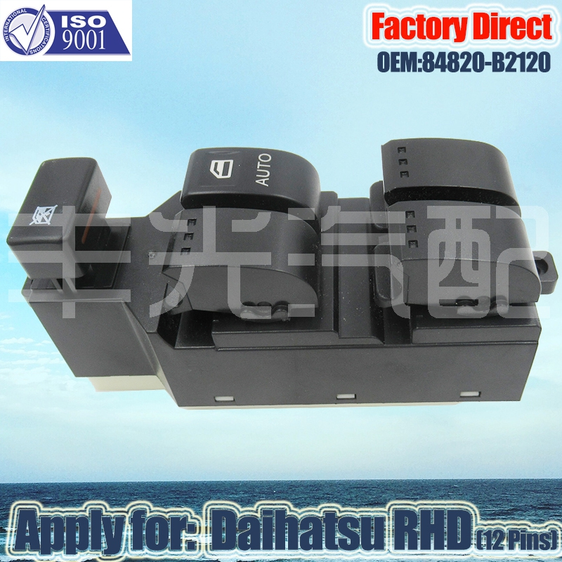 Factory Direct  Auto Power Window Lifter Switch 84820-B2120 Apply For Daihatsu L550S L560S RHD Right Driver Side