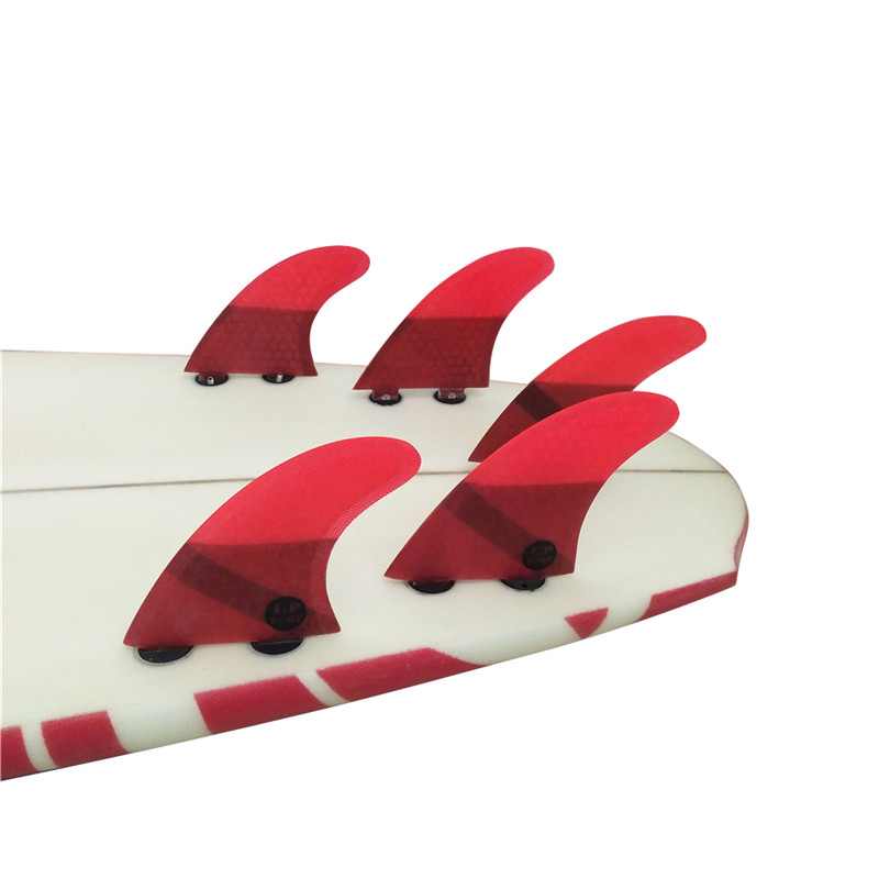 FCS K2 1 Surf Fins Fiberglass Honeycomb Fibre Surfboard Fin 5 in Per Set Red color Fins in Surfing from Sports Entertainment
