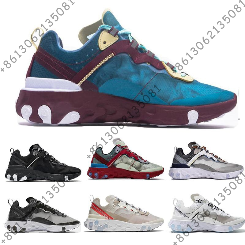 New Arrival Epic React Element 87 Undercover Men Running Shoes For Women Designer Sneakers Sports Mens Trainer Shoe