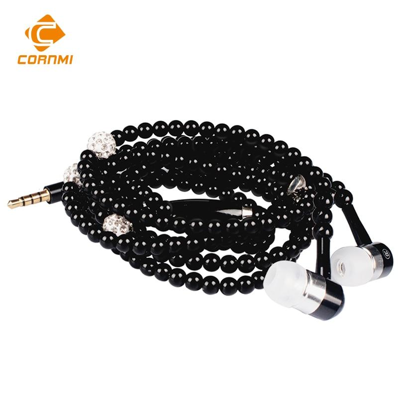 Joyería de moda Collar de perlas de Perlas de 3.5mm Para Auriculares Auriculares