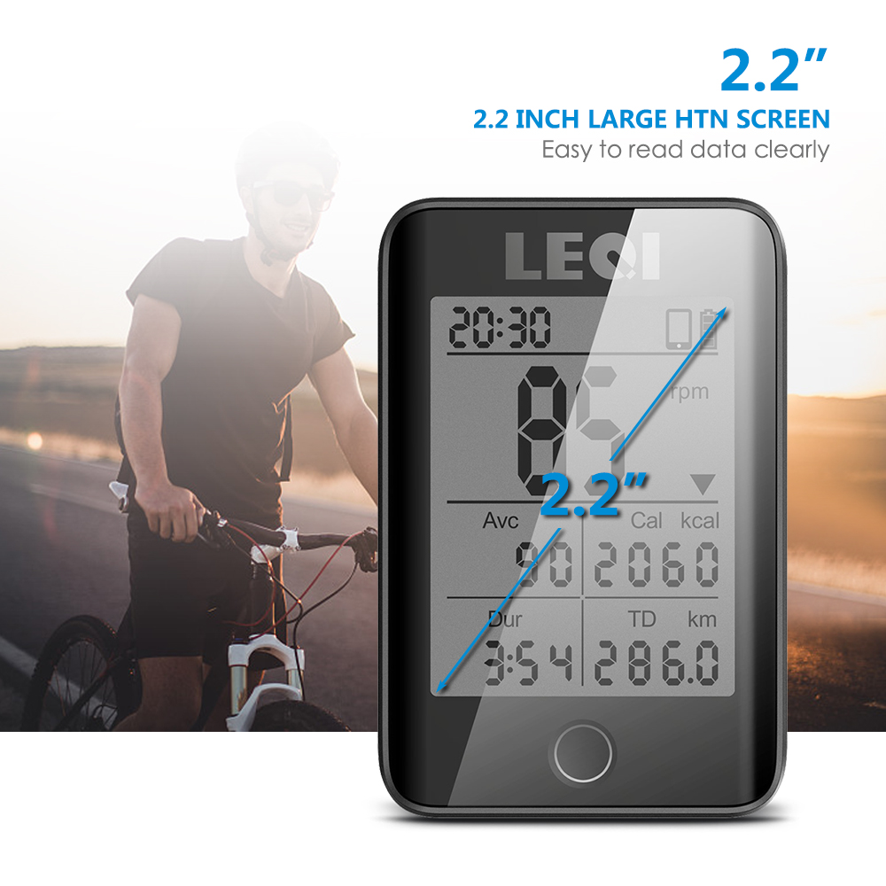 LEQI Bike Computer Wireless IPX7 Waterproof Bicycle Digital Stopwatch Cycling Speedometer ANT Large Screen capacete ciclismo