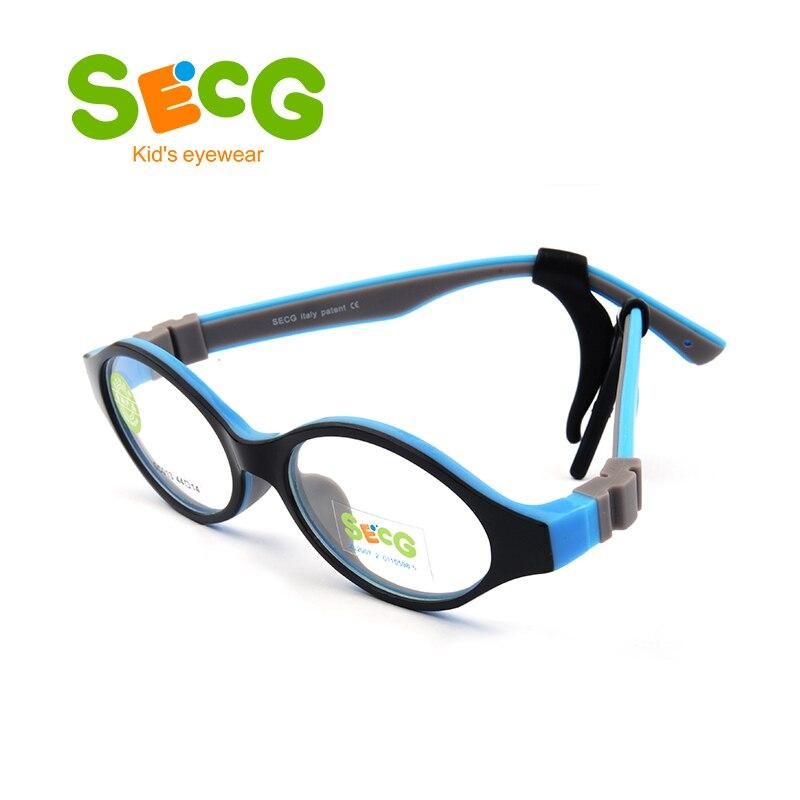 SECG Nette Runde Optische Gläser Rahmen Weiche Flexible Silikon ...
