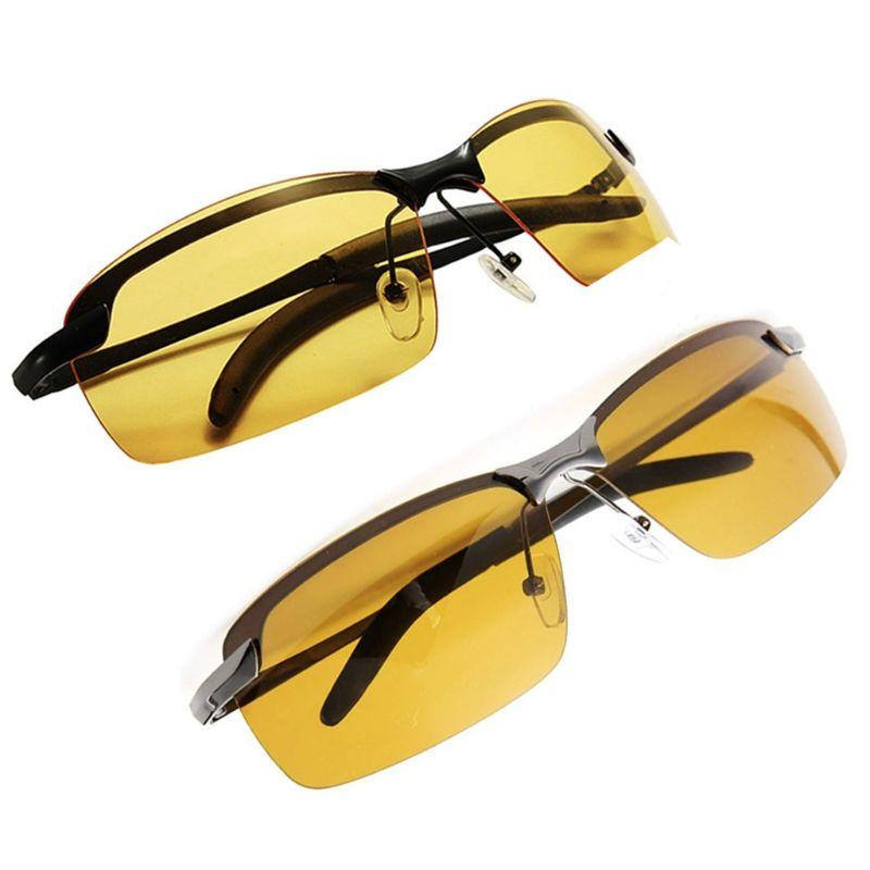 Herzhaft Männer Polarisierte Fahren Sonnenbrille Nachtsicht Brille Blendung Schnelle Farbe