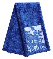 Royal Blue Net Lace Fabric Squined French Lace Sale Nigerian Cord Lace Fabric For Wedding African