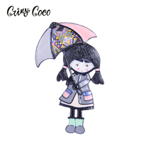 Cring Coco Cute Girls Brooch&Exquisite Elegant Brooch Pins Fashion Trendy Brooches Body Enamel Pin Jewelry Clothing Accessories