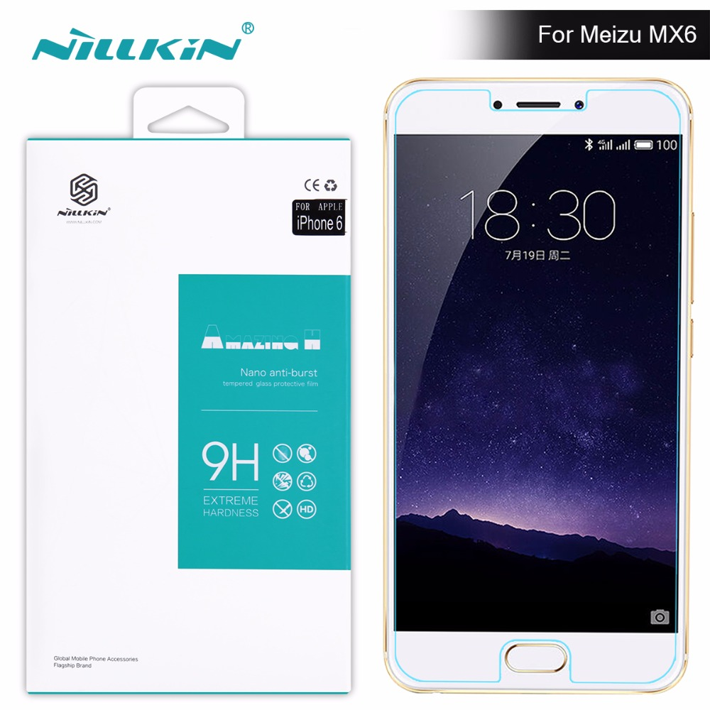 2017 meizu mx6 Screen Protector Nillkin Amazing H H PRO Tempered Glass For meizu 6 for