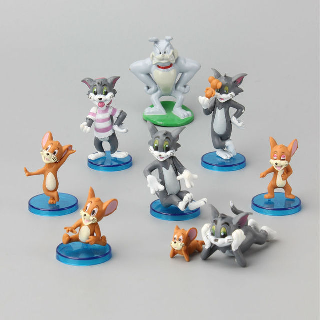 Cartone animato di tom e jerry action pvc figure modello carino