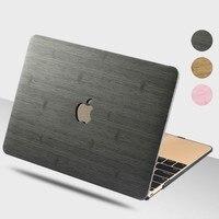 Чехол для ноутбука с деревянным зерном для MacBook, чехол для ноутбука, рукав для планшета, сумки для MacBook Air Pro retina 11 12 13 15 13,3 15,4 дюймов Torba