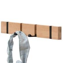Горячая Складная Бамбуковая вешалка для одежды ключей крючок