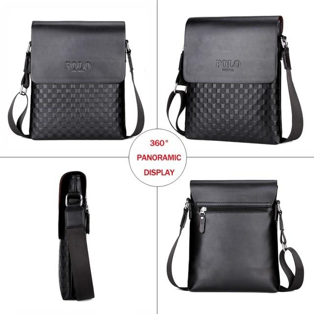 Classic Plaid Design Business Man Bag Vintage Brand Mens Messenger Bag Casual Grid Shoulder Bag For Male 2