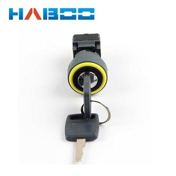 dia.16mm key switch waterproof IP65 3position elesctrical key rotary switch 3NO+3NC key lock switch
