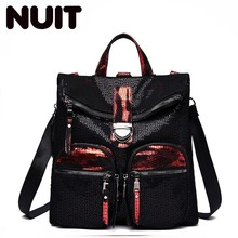 Female Backpacks Bagpack Girls Cool Bookbag Pu Leather Backpack Women Back Pack Bag Bags