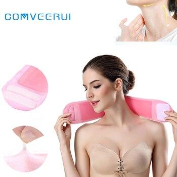 Pescoço Máscara de GEL Reutilizável Silicone Cuidados Neck Pad Fita de Pescoço Almofadas para o Tratamento e Prevenção de Rugas No Pescoço Anti Rugas Removedor de Rugas
