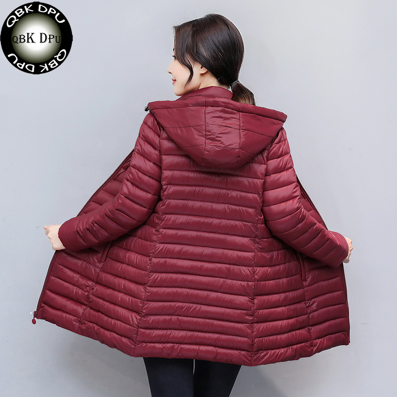 QBKDPU mid Long Winter Warm Coat Women Ultra Light 70% White Duck Down Jacket Women's Hooded Parka Female plus size 4XL Jackets womensdate 2017 new arrival winter women 90% white duck down jacket slim short coat plus size duck down purple jackets parka