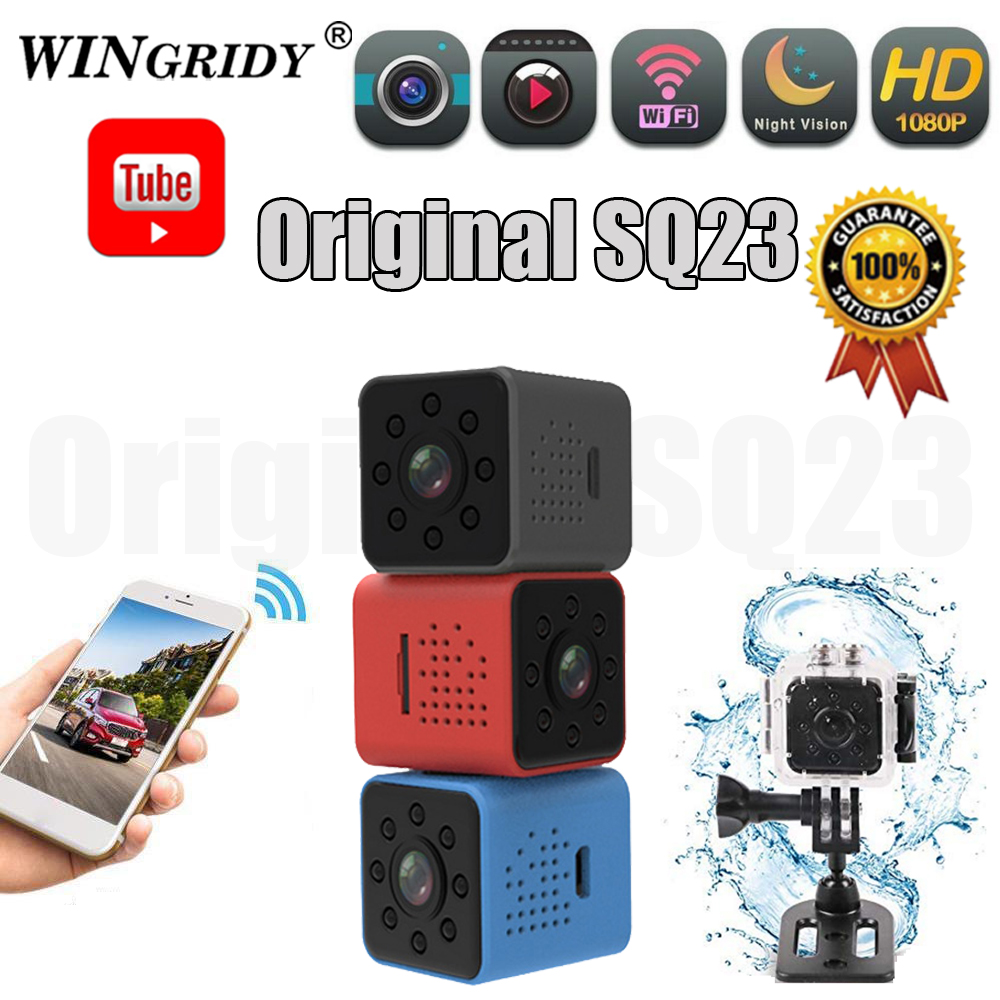 WINGRIDY Mini Camera WIFI SQ13 SQ23 SQ11 SQ12 FULL HD 1080P Night Vision Waterproof