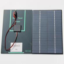 Горячие Продажи 4.2 Вт 18 В Солнечных Батарей Поликристаллических Солнечных Панелей + Крокодил Клип Для Зарядки 12 В Батареи 200*130*3 ММ НОВЫЙ Бесплатная Доставка