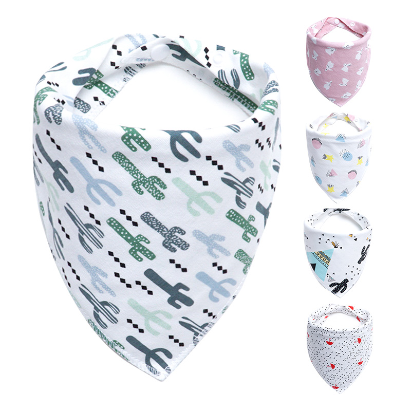 Muslinlife Cute New Cartoon Printing Baby Bibs Cotton Newborn Infant Girls Boys Toddler Triangle Scarf Bandana 30 pattern+ блузки oks by oksana demchenko блузка