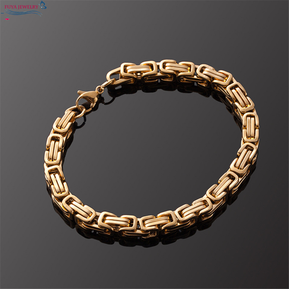 Bracelets & Bangles Forceful Punk Retro Byzantine Bracelet&bangles Men Bracelets Jewelry Stainless Steel Wrist Band Hand Chains&links Male Bracelet Gift Diversified In Packaging Jewelry & Accessories