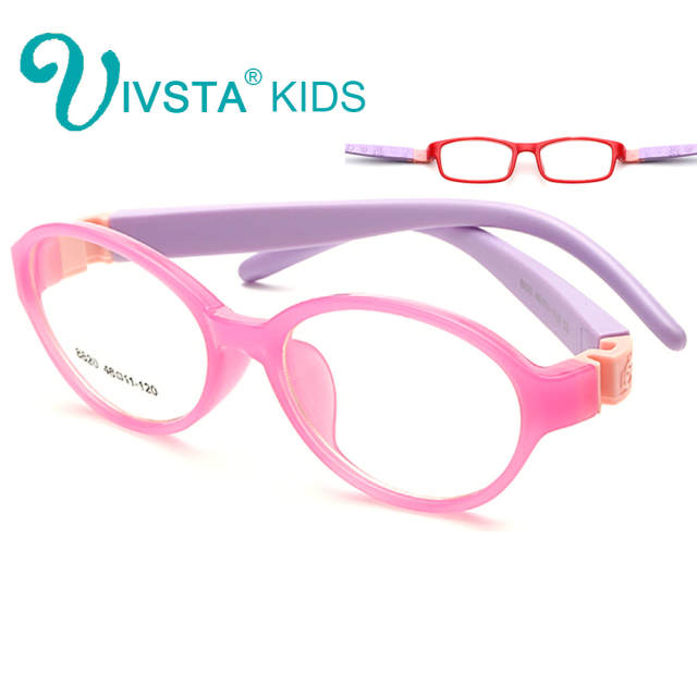 13294d6d31 Online Shop IVSTA Bendable Round Light Child Glasses frame kids frames  eyewear Flexible TR rubber optical lense No Screw safe Light 8820