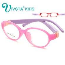 f3dc7ce47 IVSTA Dobrável Luz Rodada crianças armações de óculos de Criança Óculos de  armação Flexível borracha TR lente óptica Sem Parafus.