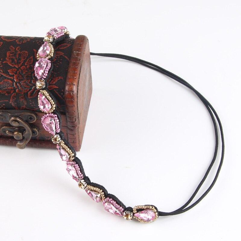 12 Styles Handmade Weave Headbands For Women Water Drop Headwear Bohemian Apparel Accessories Rhinestone Headbands 3H5022