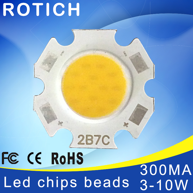 High Power Epistar <font><b>COB</b></font> <font><b>3W</b></font> 5W 7W 10W DC 10V-32V Integrated SMD For Floodlight Spotlight Warm White /White image