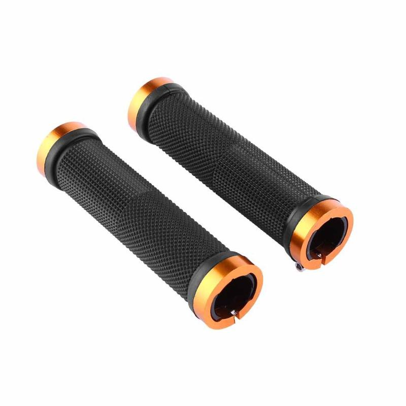 5 Colors 1 Pair Cycling Lockable Handle Grip For Bicycle MTB Road Bike Handlebar Bicycle Grip Bike Aluminum Alloy + Rubber