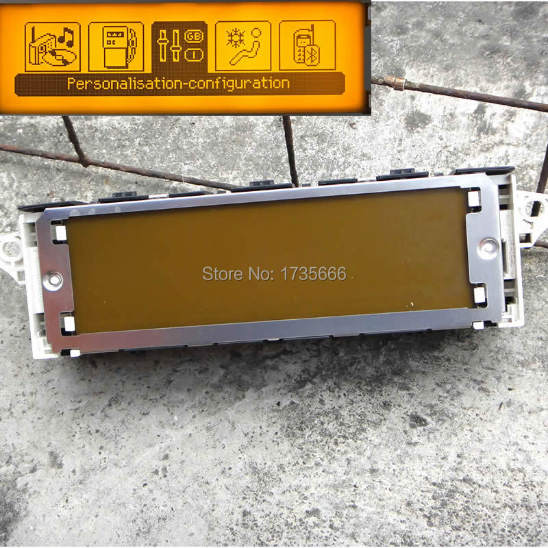 5 pcs écran D'origine D'USB de soutien climatisation Bluetooth Affichage jaune monitorfor Peugeot 307 407 408 écran citroen C4 c5