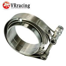 VR RACING – 3″ SUS 304 Steel Stainless Exhaust V Band Clamp Flange Kit V-band Vband Male Female Design VR5243