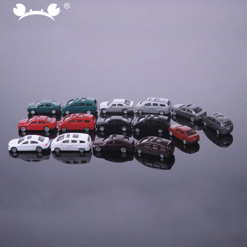 6pcs Mini Diecast Bus Toy 1:160~1:200 N Scale Railway Scenery Pocket Sized