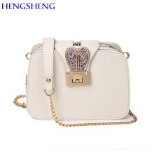 HENGSHENG European Fashion chain women shoulder bags with top quality pu leather women messenger bag of newly ladies handbag